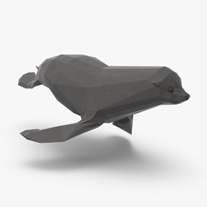 3D seal---swimming