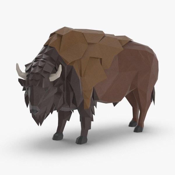 buffalo----standing 3D model