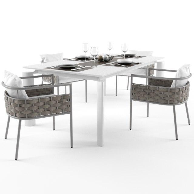 talenti kira dining set 3D