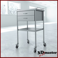 3D utility table drawers model