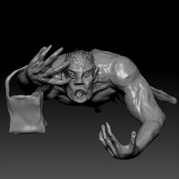 halloween zombie trick treating 3D model