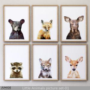 3D juniqe little animals picture