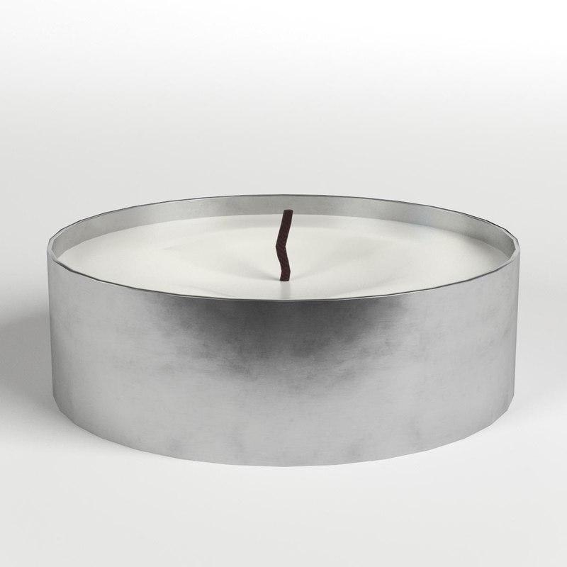 tealight candle 3D model