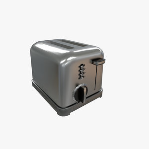 3D model toaster cuisinart cpt 160