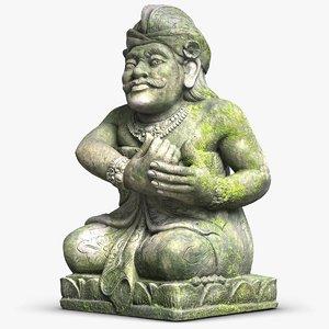 sculpture bali guardian 3D model