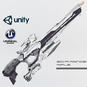 sci-fi range rifle 3D model