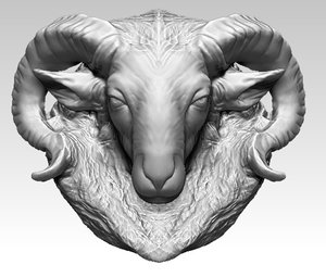 3D ram head model