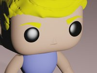 funko pop male customizable 3D