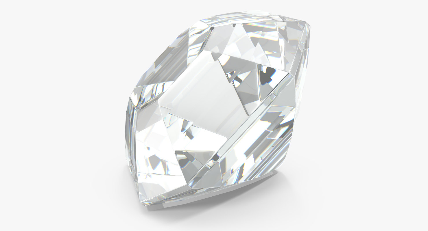 3D asscher cut diamond