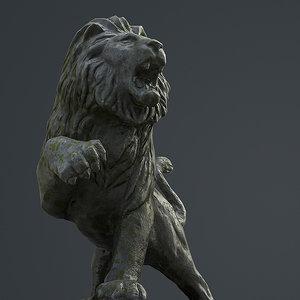 lion statue 3D