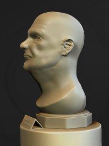 head old man bust 3D model