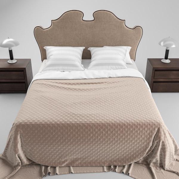 3D eichholtz bed boudoir model