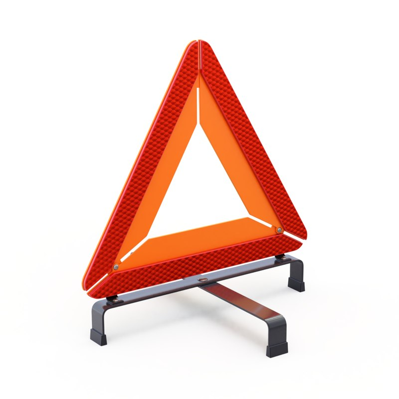 triangle warning 3D