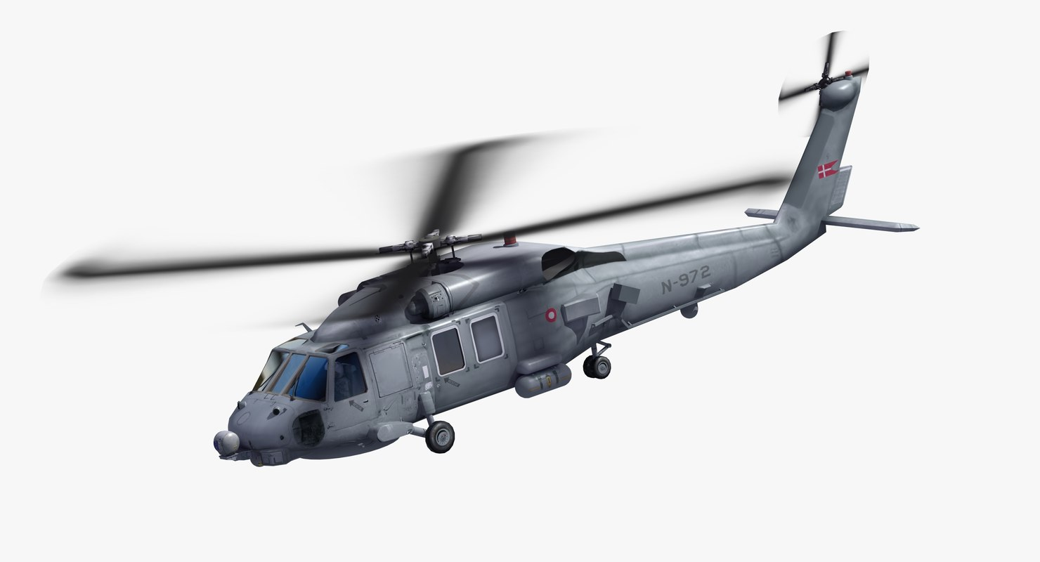 mh-60r helicopter danish 3D model