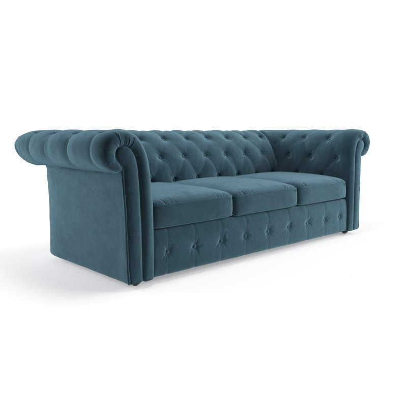 3D traditional tufted classic sofa model