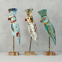 3D decorative mittus