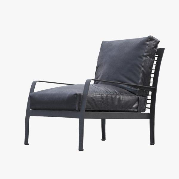 3D minotti richards armchair