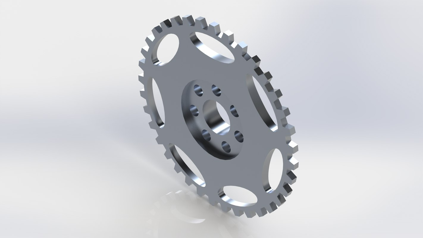3D lightened flywheel model
