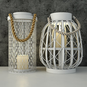 lanterns zara home 3D