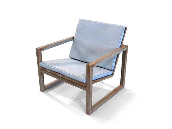 3D poltrona lounge wooden chair