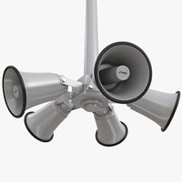 3D model outdoor broadcast horn pole