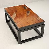 teak coffee table 3D model