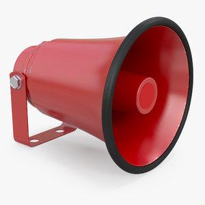 red horn speaker generic 3D