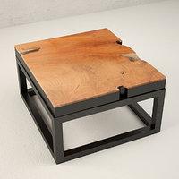 3D teak coffee table