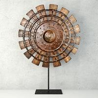 3D wood loom wheel recycled