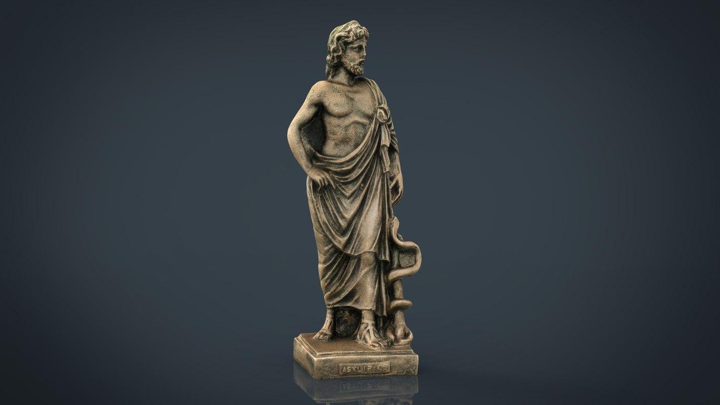 asclepius hero god 3D model