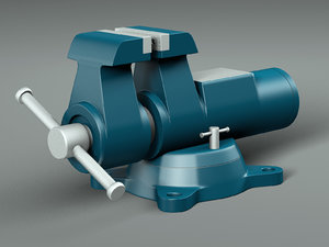 3D vise industrial work model
