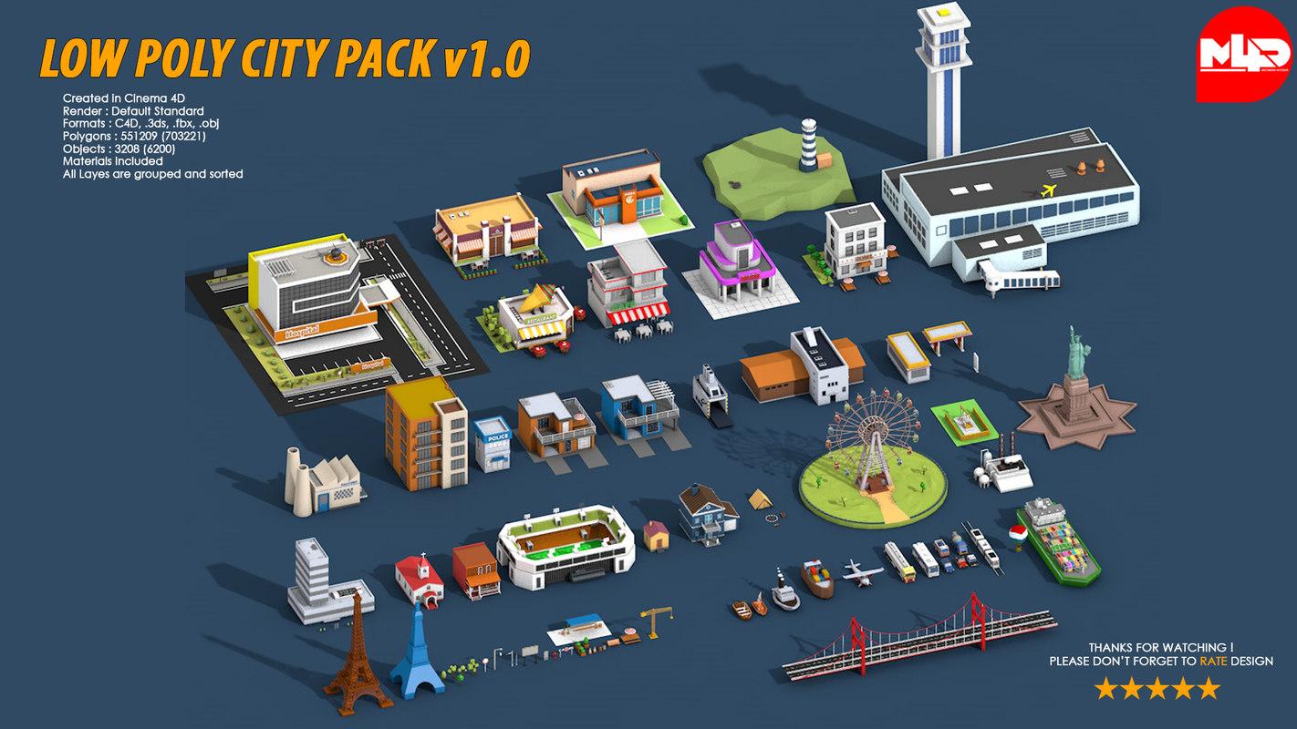 3D city pack
