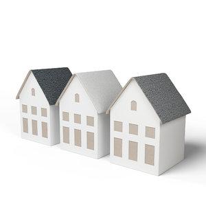 3D miniature house decoration model