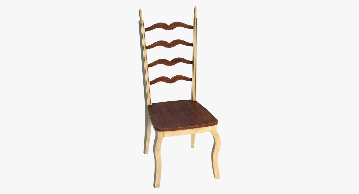 antique ivory dining chair 3D