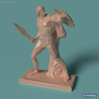 3D model achilles polygonal