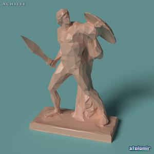 3D model achilles polygonal