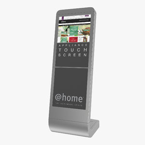 information broswer kiosk touch screen 3D model