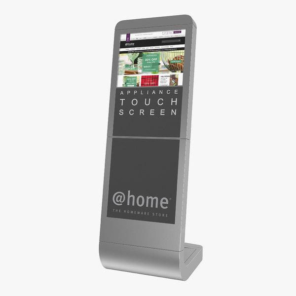 information broswer kiosk touch screen 3D model