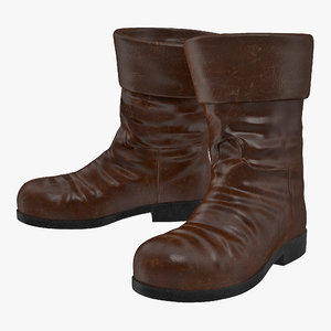 old leather boots model