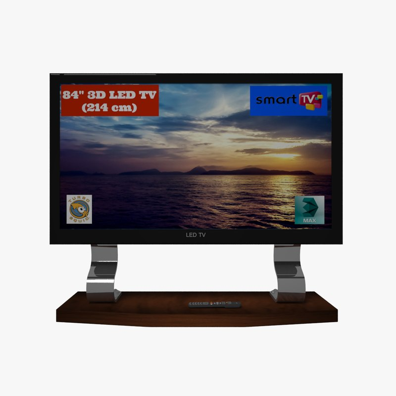 3d led tv turbosquid 1217825. Black Bedroom Furniture Sets. Home Design Ideas
