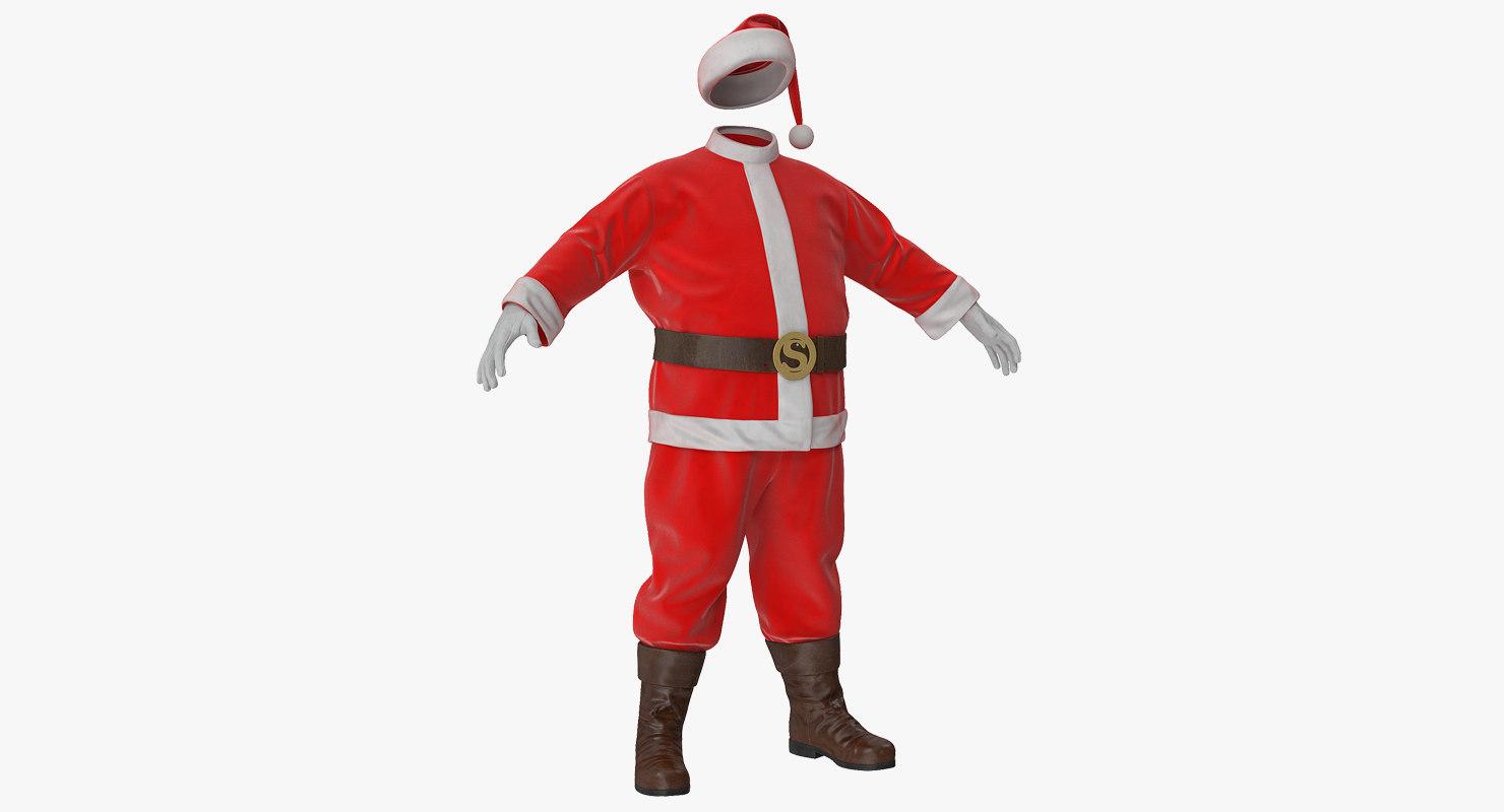 3d santa claus costume - Santa Claus Coat
