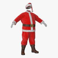 3D santa claus costume