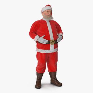 3D santa claus standing pose model