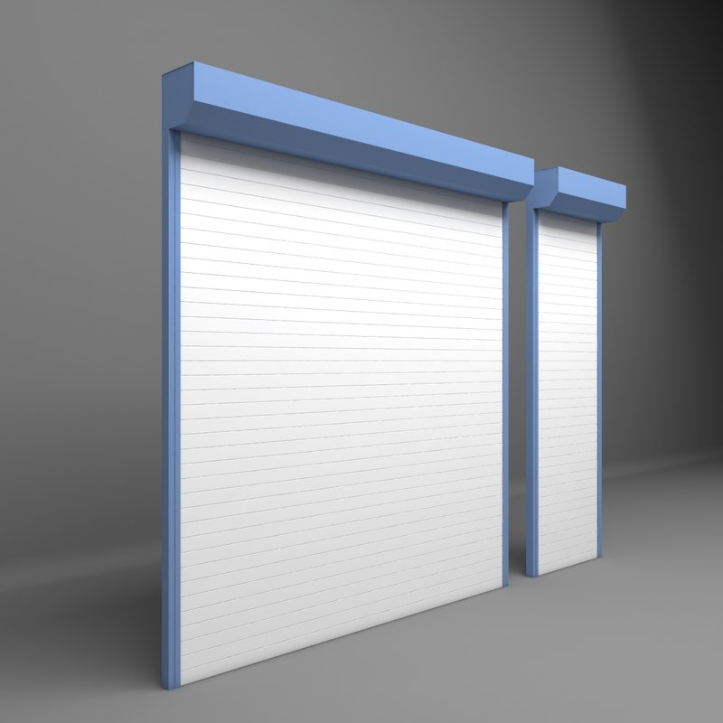 electrically shutter garages door 3D