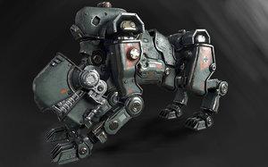 3D panzerhund 1960 model