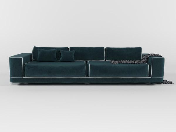 classical velvet sofa fendi model