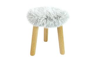 3D stool fourrureadas laredoute