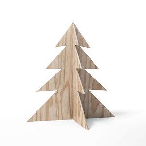 plywood christmas tree decoration 3D model