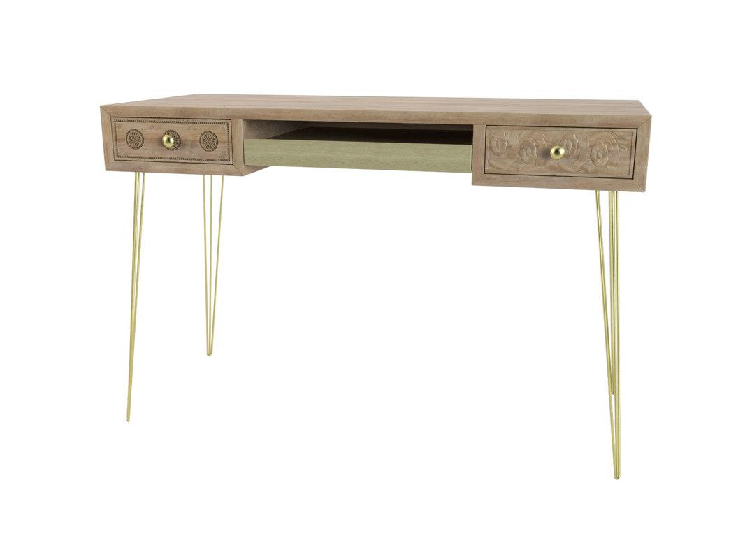 3D desk boheme chic