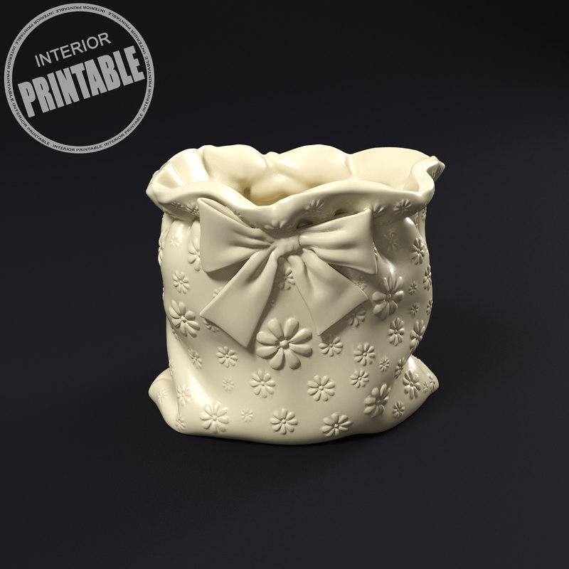 pouch plant pot model